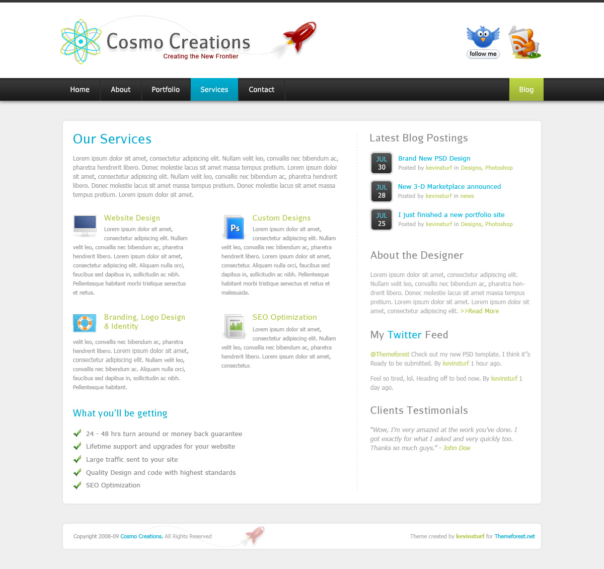 Cosmo Creations | Modern Portfolio &amp; Business